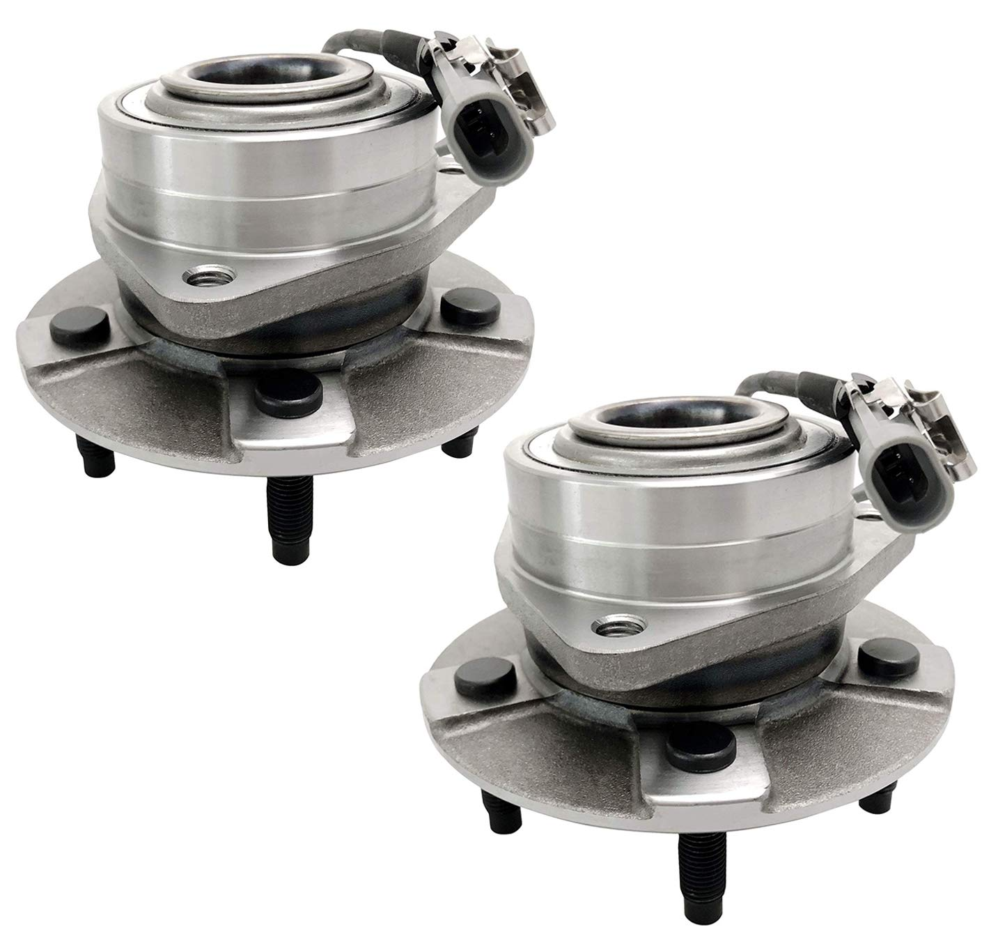Bodeman - Pair (2) Front Wheel Hub & Bearing Assembly w/ABS for 2005 2006 Chevy Equinox 2006 Pontiac Torrent 2002 2003 2004 2005 2006 2007 Saturn Vue 513189 x2 by Bodeman