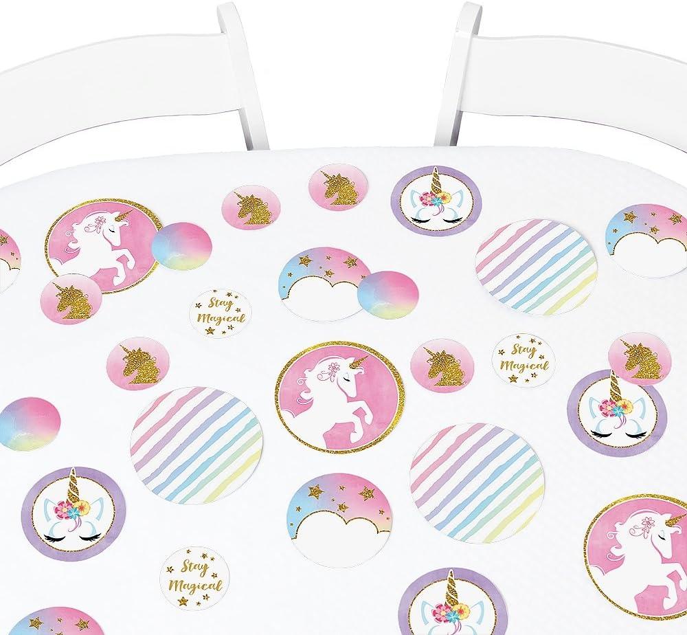 Table ConfettiScatters Pastel Unicorns small