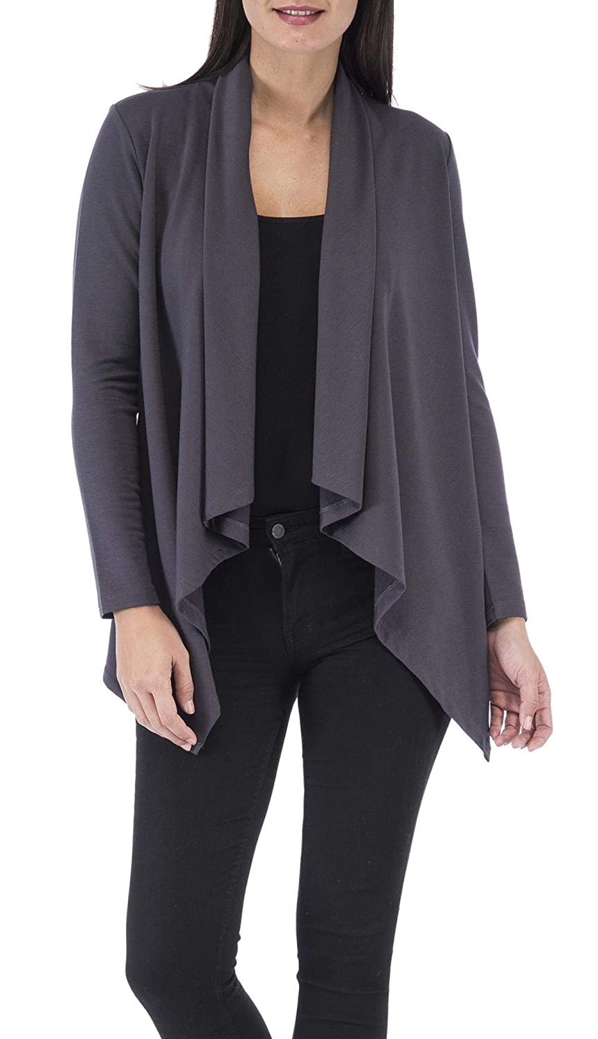 624accba8d00c8 Bobeau Amie French Terry Cardigan at Amazon Women's Clothing store: