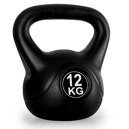 Klarfit Trainingshanteln Kettlebell - Pesa rusa de entrenamiento, 6 kg, color negro