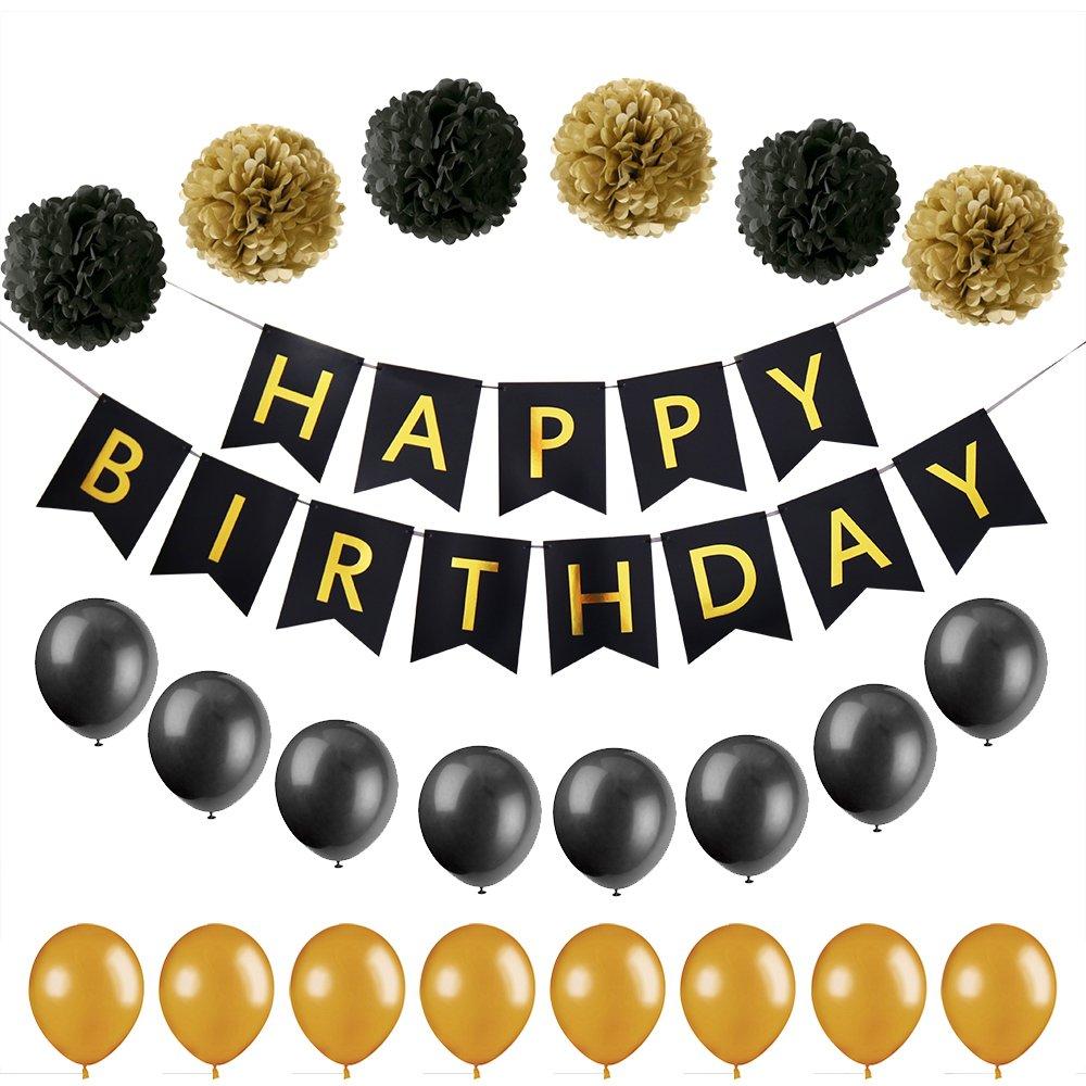 Amazon.com: palasasa feliz cumpleaños Banner, papel bola de ...