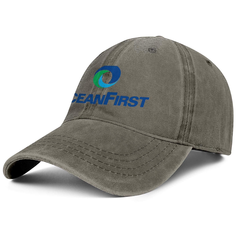 SU8TD Men Women Hat OceanFirst Financial Logo Snapback Hats Cool Cowboy Cap Caps