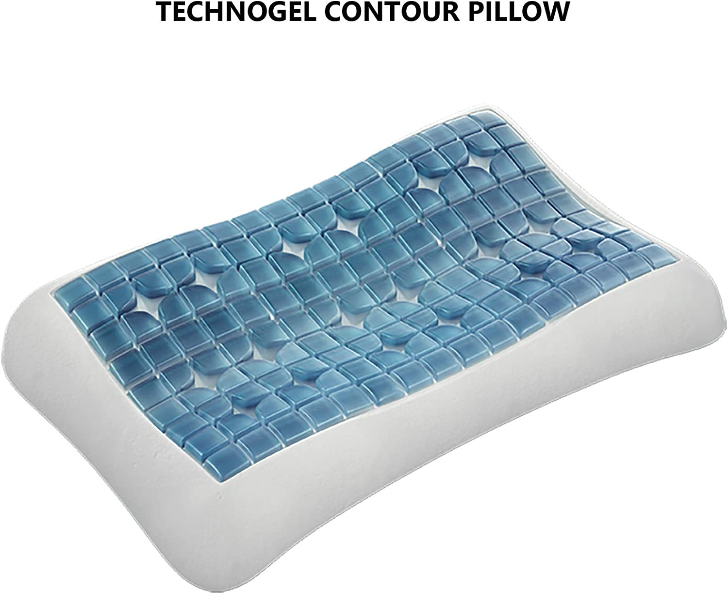 GEL MEMORY FOAM COOLING PILLOW SOFT COMFORTABLE /& SUPPORTIVE AND FIRM CUSHION
