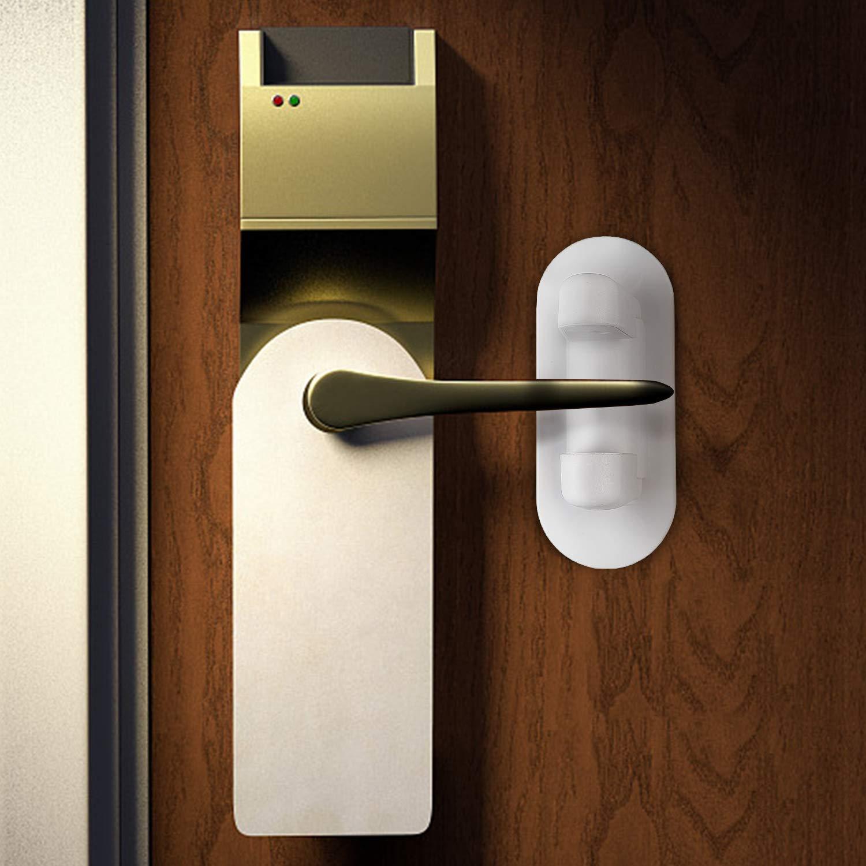 Door Lever Lock (2 Pack) Child/Pets Proof Doors Kids Proofing Door Handle 3M Adhesive - Toddler Safety Locks QQAPPU