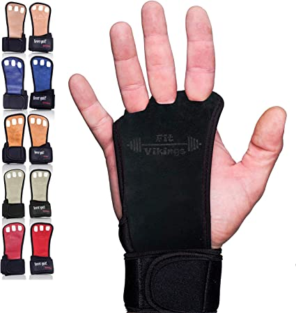 Weight Lifting Hand Grips Made in USA US Glove Rainbow Beginner Palm Grips Hand Protection from Rips and Blisters Gymnastics