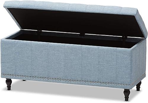 Cheap Baxton Studio Kaylee Modern Classic Upholstered Button-Tufting Storage Ottoman Bench Dark Grey ottoman chair for sale