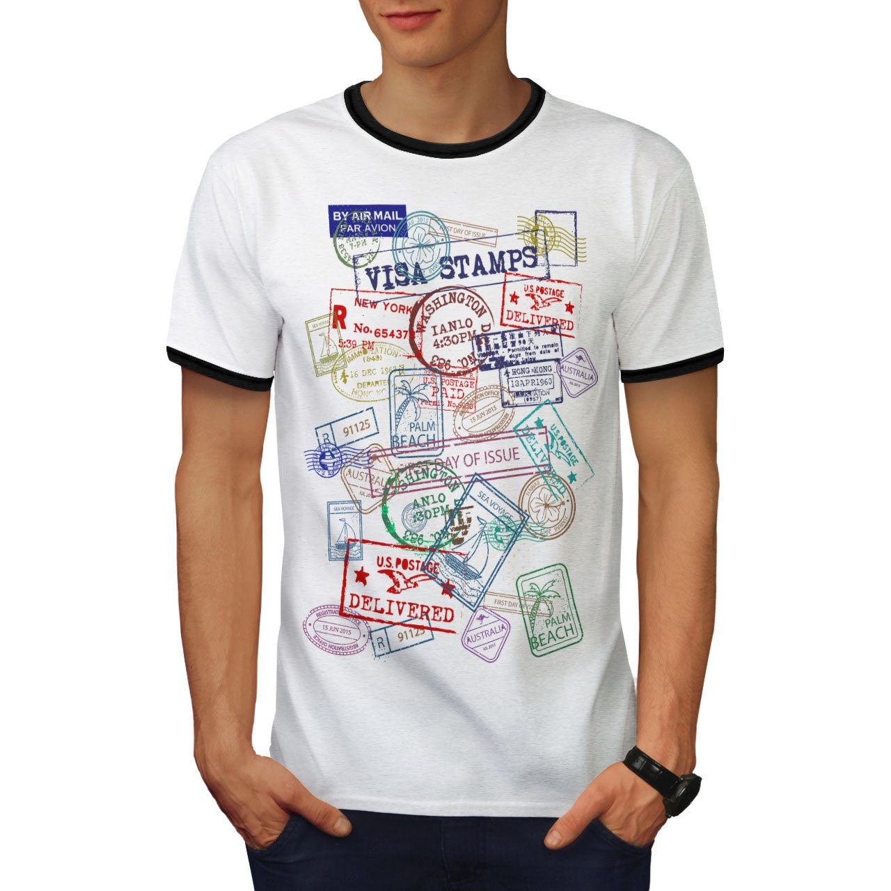 e4306c8a8 We've taken great care to make sure that the material of this Ringer T-shirt  is soft on the skin, ensuring maximum comfort after long periods of wear.