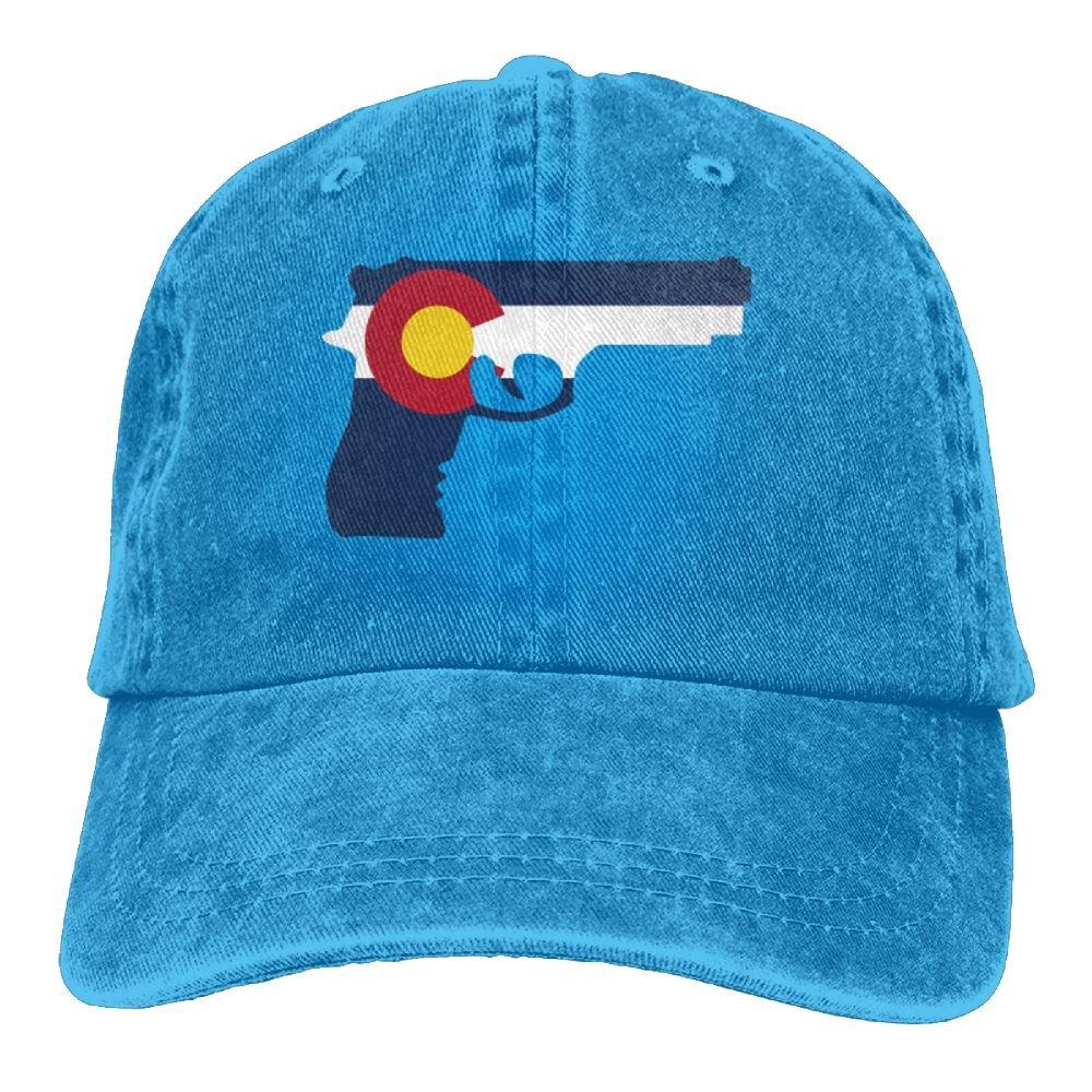 Trableade Colorado Flag Adult Sport Adjustable Structured Baseball Cowboy Hat