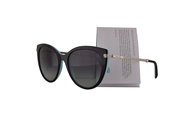 0fcdcc0d91 Image Unavailable. Image not available for. Color  Tiffany   Co. TF4143B Sunglasses  Black Blue w Grey Gradient Lens 55mm 80553C TF4143