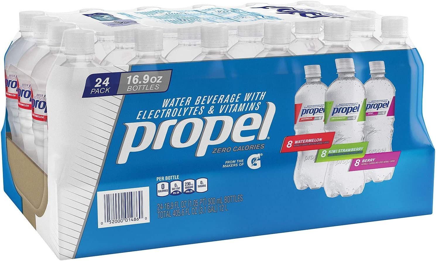 Propel Zero Water Variety Pack (16.9 oz. ea., 24 pk.) (pack of 2)