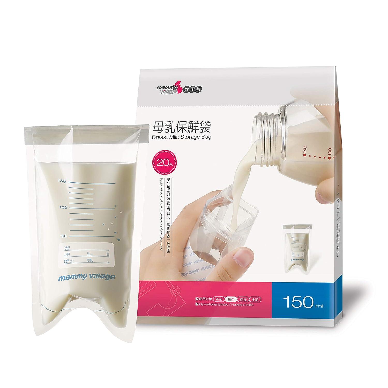 Mammy Village Breast Milk Storage Bags, Breastmilk Freezer Safe Bags for Baby Feeding-250ml/60pcs