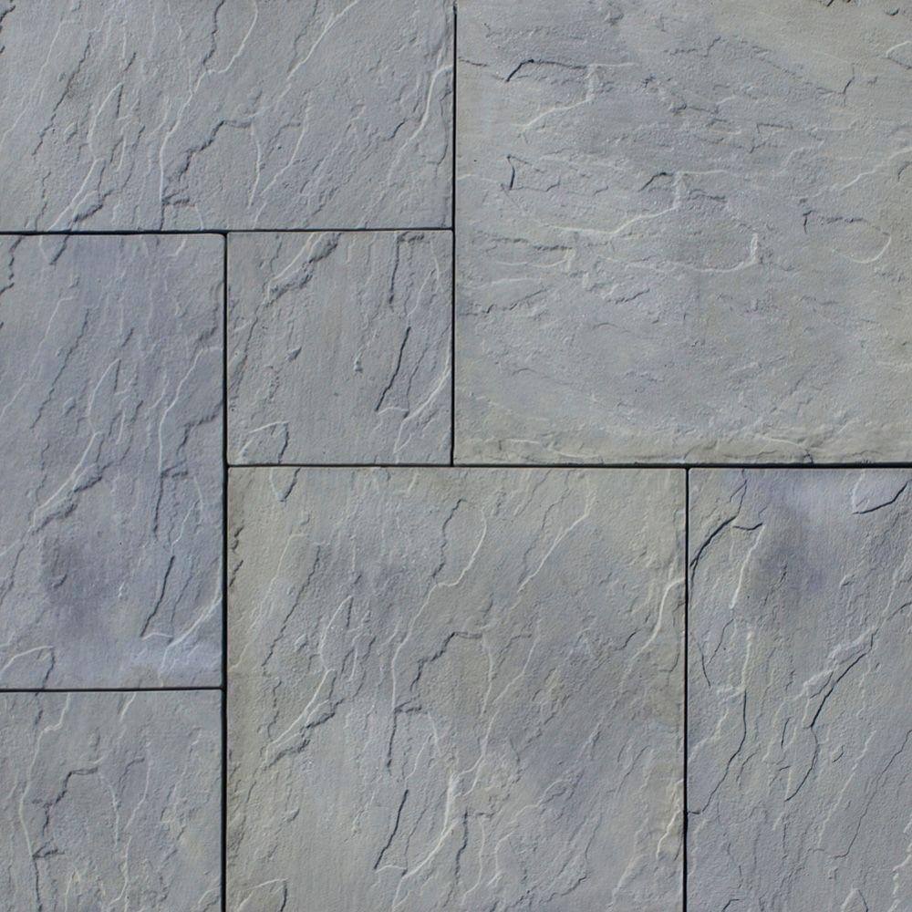 Nantucket Pavers Patio-on-a-Pallet 120 in. x 120 in. Gray Variegated Dutch York-Stone Concrete Paver (Pallet of 44-Piece