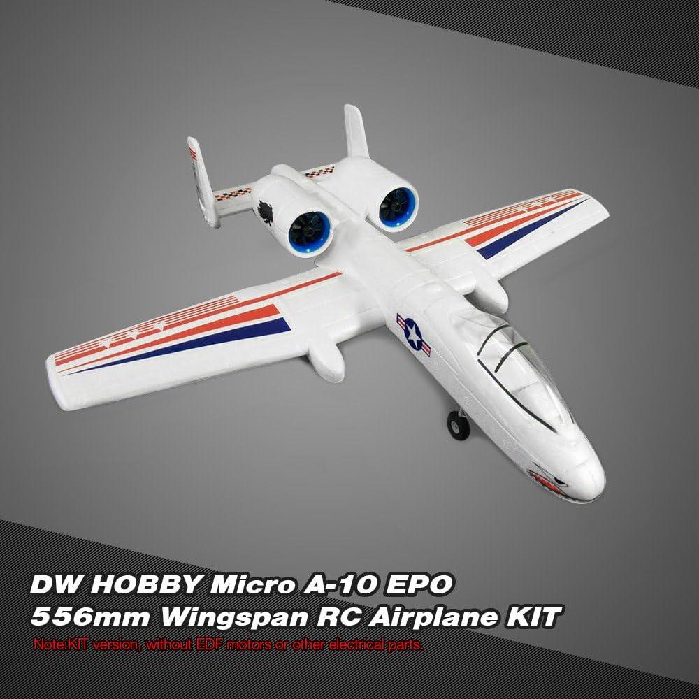 Goolsky DW HOBBY Micro A-10 EPO 556mm Wingspan Airplane RC Versión KIT de avión: Amazon.es: Juguetes y juegos