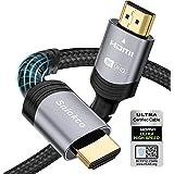 Cable HDMI 2.1 8K 2M, Sniokco Certificado Cable HDMI Trenzado de Ultra Alta Velocidad de 48Gbps, Compatible con HDR Dinámico,