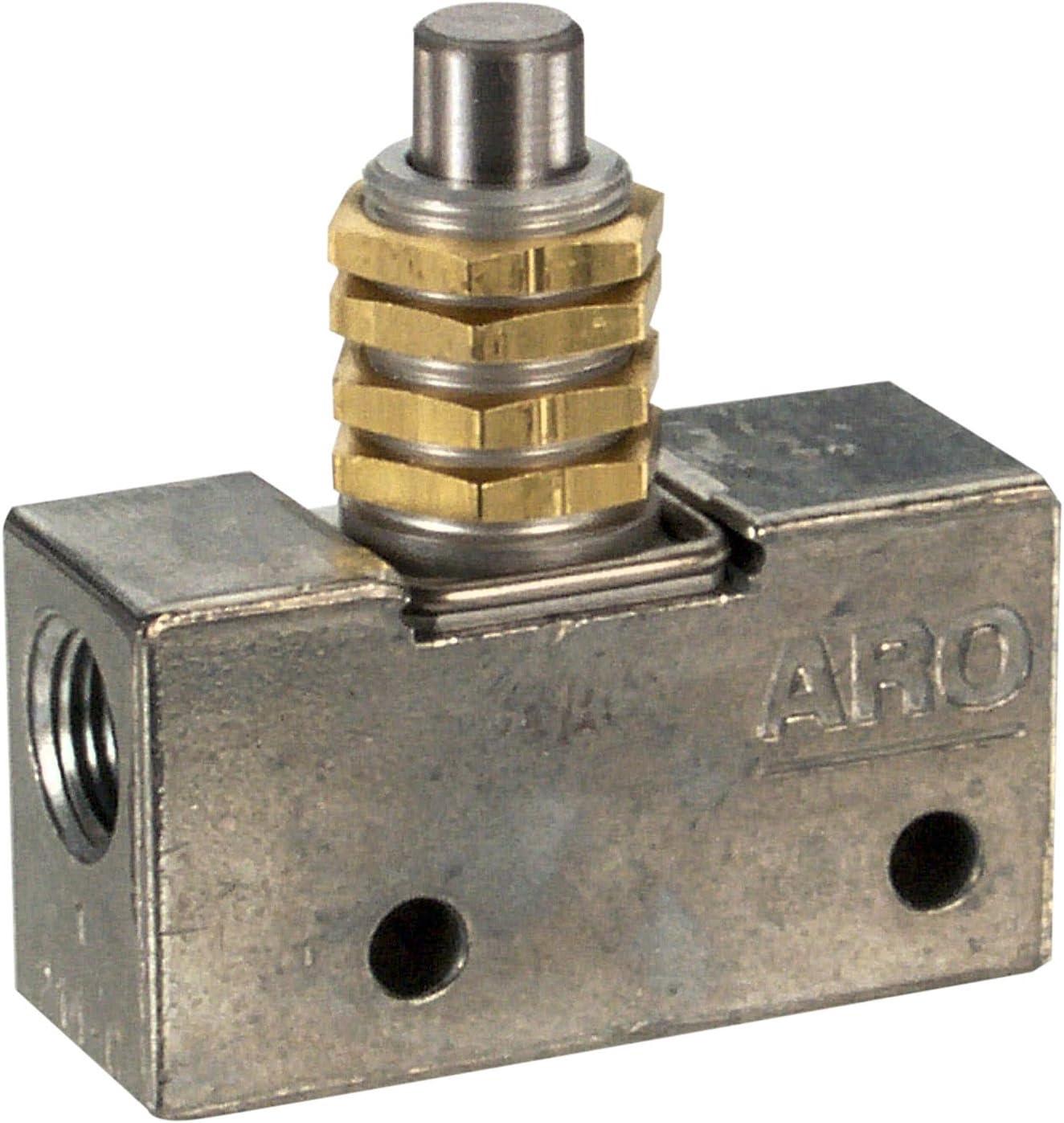ARO 214-C Manual Air Control Valve,3-Way,1//8in NPT