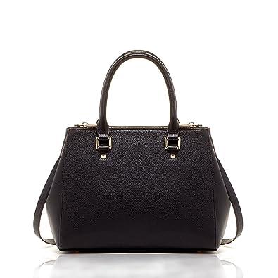 Satchel Bags For Women Black Genuine Leather Top Handle Designer Purses and  Handbags Work Tote Style 462fcb7ba7