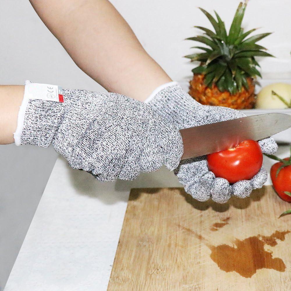 1 Paar Schnittschutzhandschuhe Level 5 Schutz Lebensmittelecht K/üchenhandschuhe Schnittfesten Arbeitshandschuhen Schnittfeste Mehrzweck Handschuhe Pingenaneer