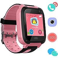 Reloj Niños Smart Watch Phone, LBS/GPS Tracker Smartwatch para Niños Niñas con Cámara SOS Ranura para Tarjeta Pantalla…
