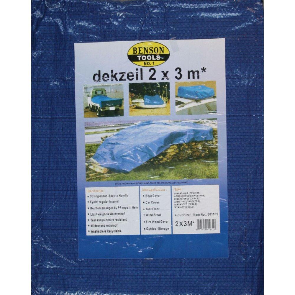 Tissu Bâ che 2 x 3 m Bleu Benson