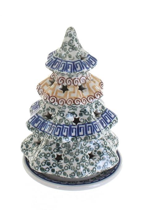 Amazon.com: Blue Rose Polish Pottery Athena Small Christmas Tree ...