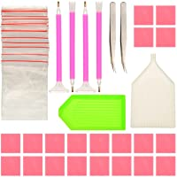 Sumind DIY Diamond Painting Tools Diamond Sticky Pens Plates Clays Tweezers and Bags, 48 Pieces in Total