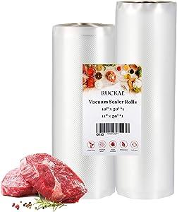 Vacuum Sealer Bags for Food, RUCKAE 2 Rolls 10