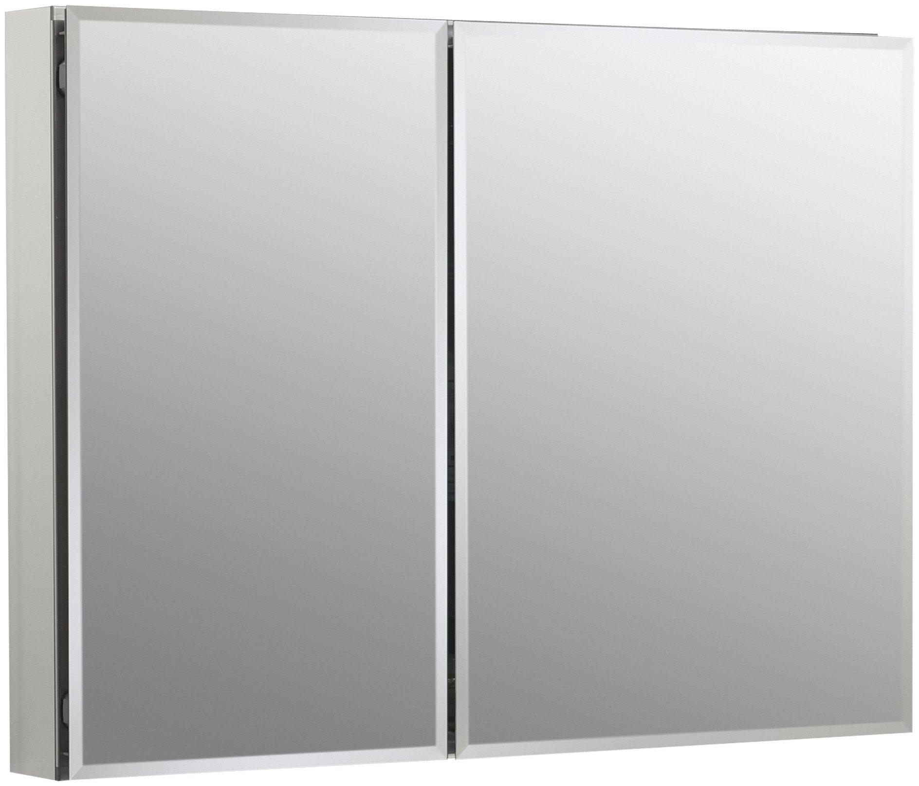 KOHLER K-CB-CLC3526FS Frameless Double Door 35 inch x 26 inch Aluminum Bathroom Medicine Cabinet; Recess or Surface Mount by Kohler
