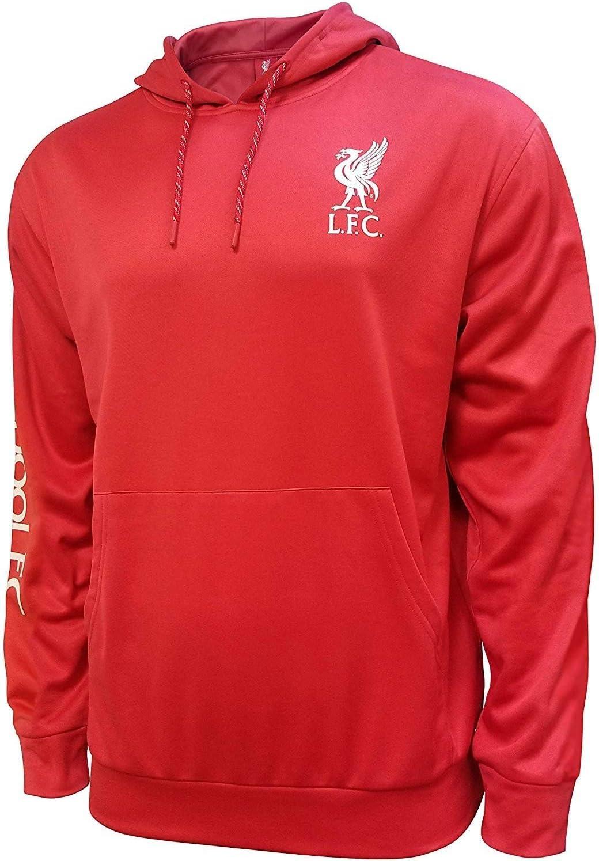 Zipper Front Fleece Jacket Sweatshirt Official License Soccer Hoodie 018 Liverpool F.C