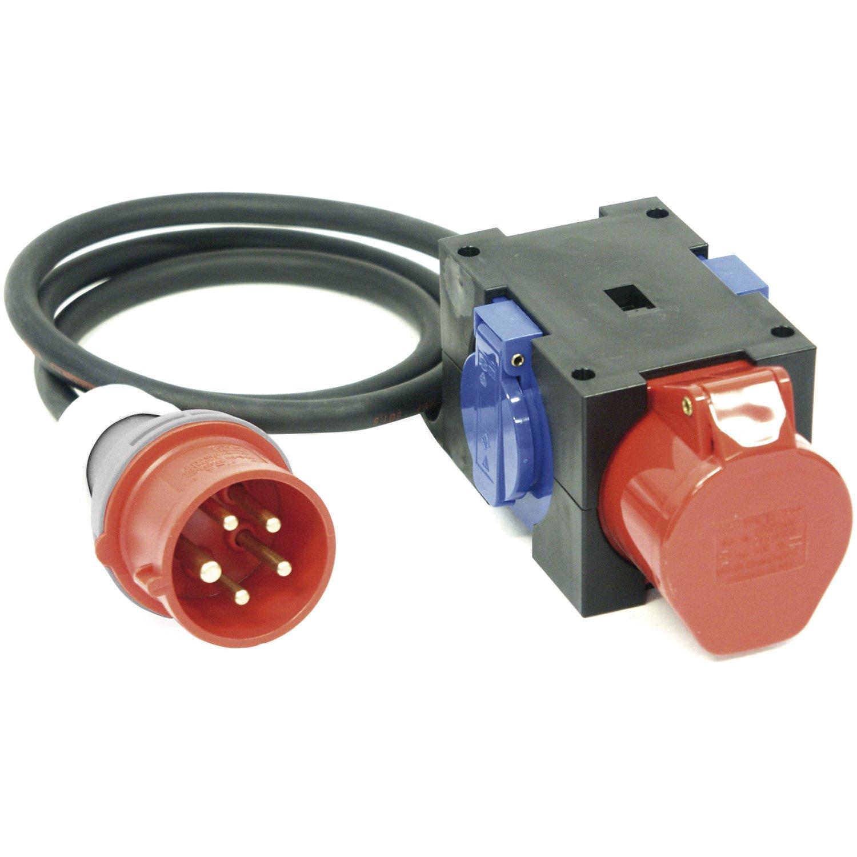 PC ELECTRIC KompaktGrüneiler StückAnton H07RN-F 5G1.5, IP44, 2x 250-1x 400 V, Kabellänge 1,5 m, 1 Stück,9430152 B01HXXMAI6 | Verrückter Preis