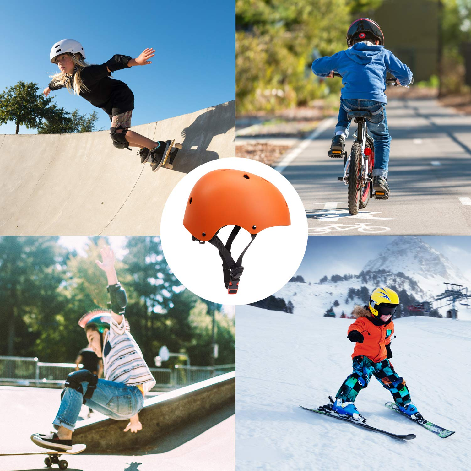 ca1bbfc248 Glaf Kids Bike Helmet Toddler Multi-Sport Skateboard Scooter Cycling Helmet  CPSC Certified Impact Resistance