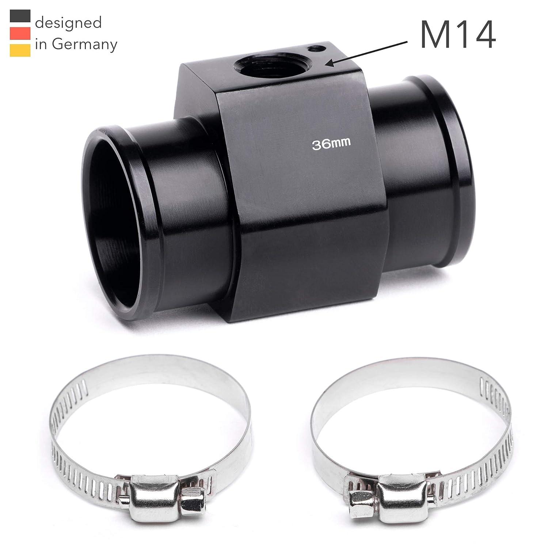 M14 Adaptador de manguera de radiador con interruptor t/érmico 40 mm 26 mm