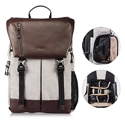 9012dc85b7 TARION RB-02 Large Camera Backpack DSLR Mirrorless Camera Bag Waterproof  with Compartments for Tablet