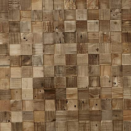 Timberwall - Reclaimed Collection - Cube - DIY Wood Wall Panels - Solid  Wood Planks - Nails and Staples Application - 8 2 Sq Ft