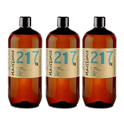 Naissance Aceite de Ricino 3 x 1L - Puro, natural, vegano, sin hexano