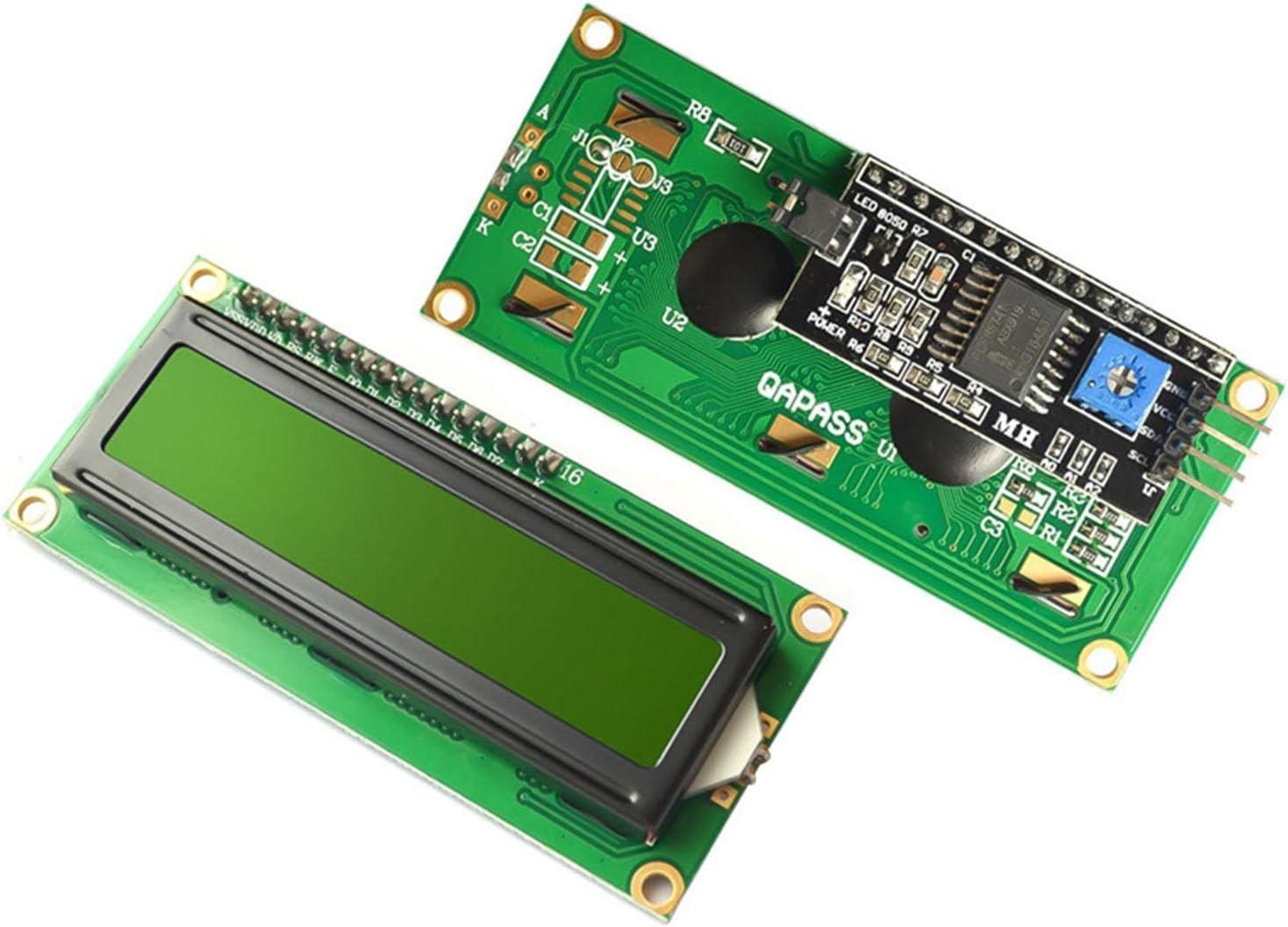 3.3V 5V LCD1602A Character Dot Matrix LCD Display Module 16x2 Black Background