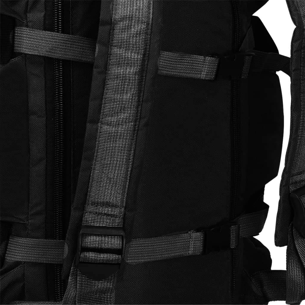 vidaXL Bolso de Lona Estilo Militar 3-en-1 de 120L Camuflaje Maleta Mochila