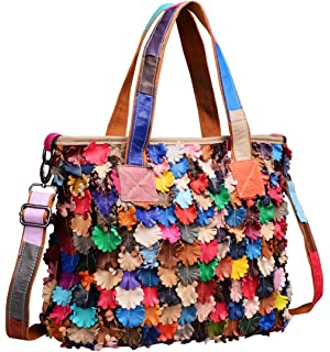 3eb2cd04ae Heshe Womens Multi-color Shoulder Bag Hobo Tote Handbag Cross Body Purse