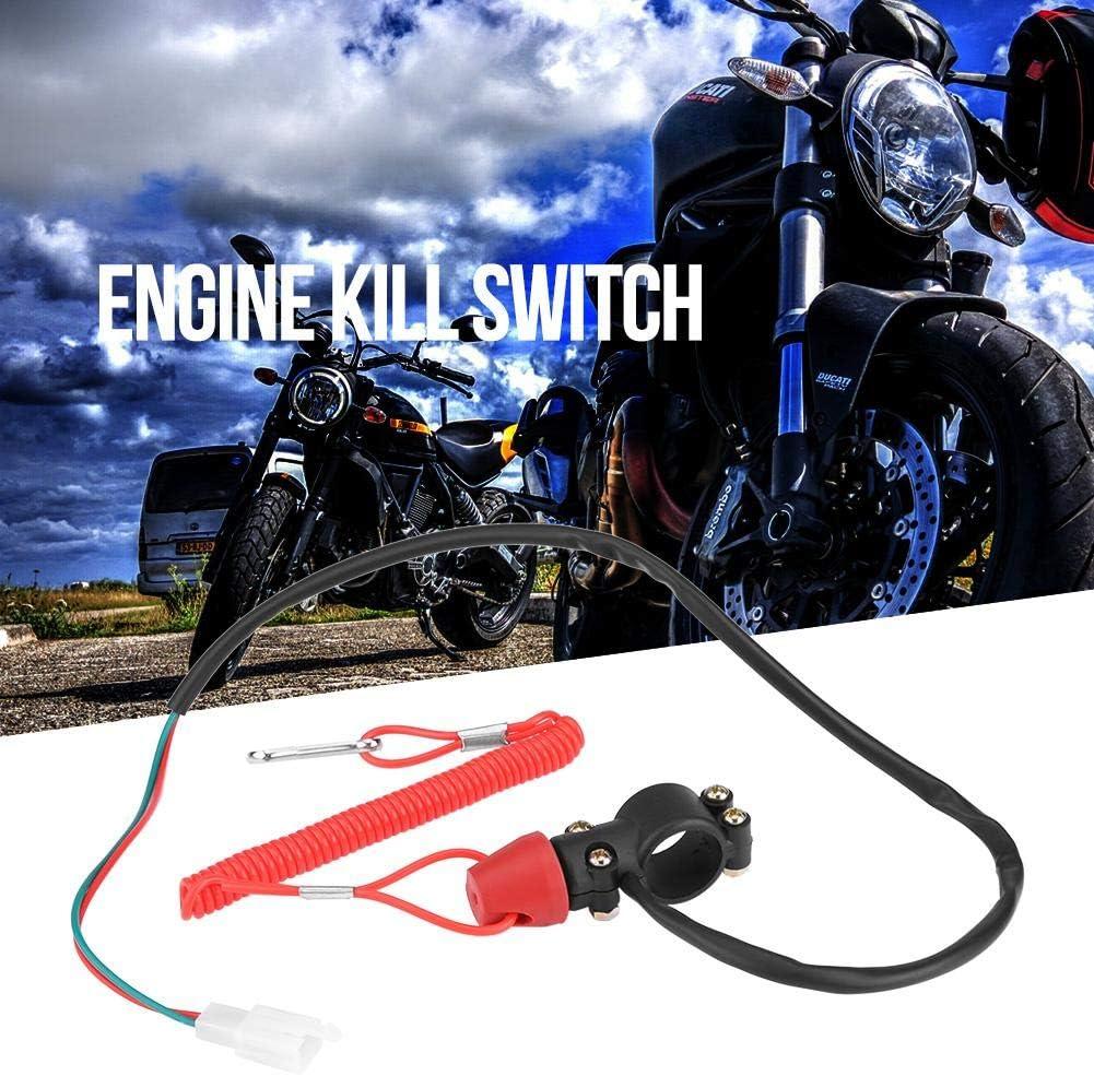 Keenso Motorrad 7//8 Lenkerhalterung Wasserdicht Start Kill Schalter Kill Switch Moped Motorrad Lenker Au/ßenborder Schalter 22mm