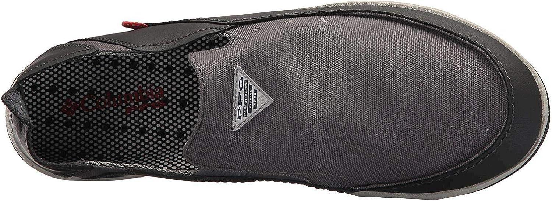   Columbia Men's Bahama Vent PFG Boat Shoe, Waterproof & Breathable, 13 M US, titanium mhw, bright red   Tennis & Racquet Sports
