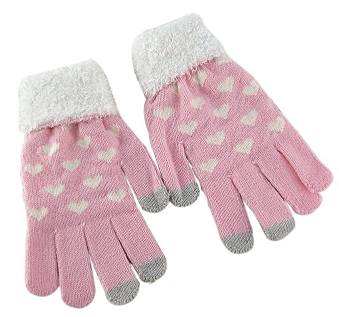 d5a965619 Pink And Heart-shaped Autumn And Winter Women Warm Knitted Wool ...