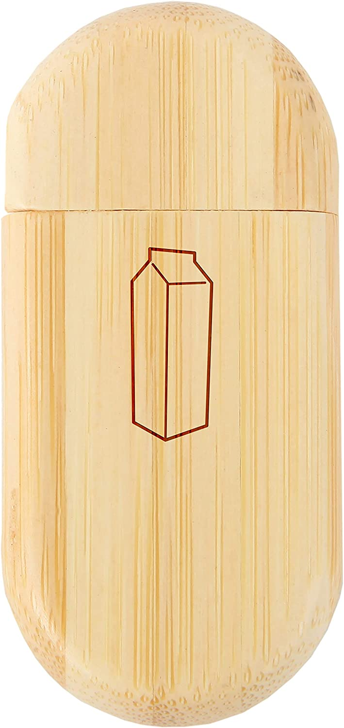 Milk Carton 8Gb Bamboo USB Flash Drive with Rounded Corners Wood Flash Drive with Laser Engraving 8Gb USB Gift for All Occasions