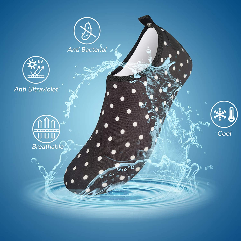FELOVE Chaussures de Sports Nautiques Barefoot /à s/échage Rapide Aqua Swim Chaussettes de Yoga en Cours de Yoga Chaussures /à Enfiler pour Hommes Femmes