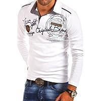 MT Styles - R-0682 - T-shirt polo à manches longues - inscription « Ambition »