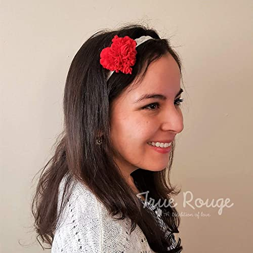 Lovely Puffy Read Heart Headband perfect for Valentine s Day Baby ... 6bb15e8d752