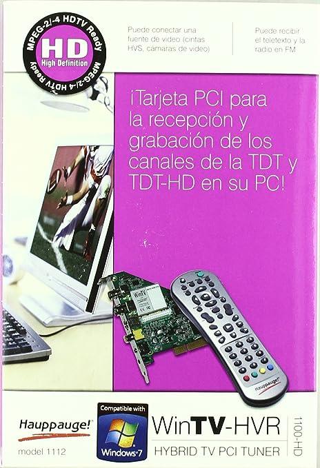 Hauppauge Wintv Hvr 1100 HD - Tarjeta TV: Amazon.es: Informática