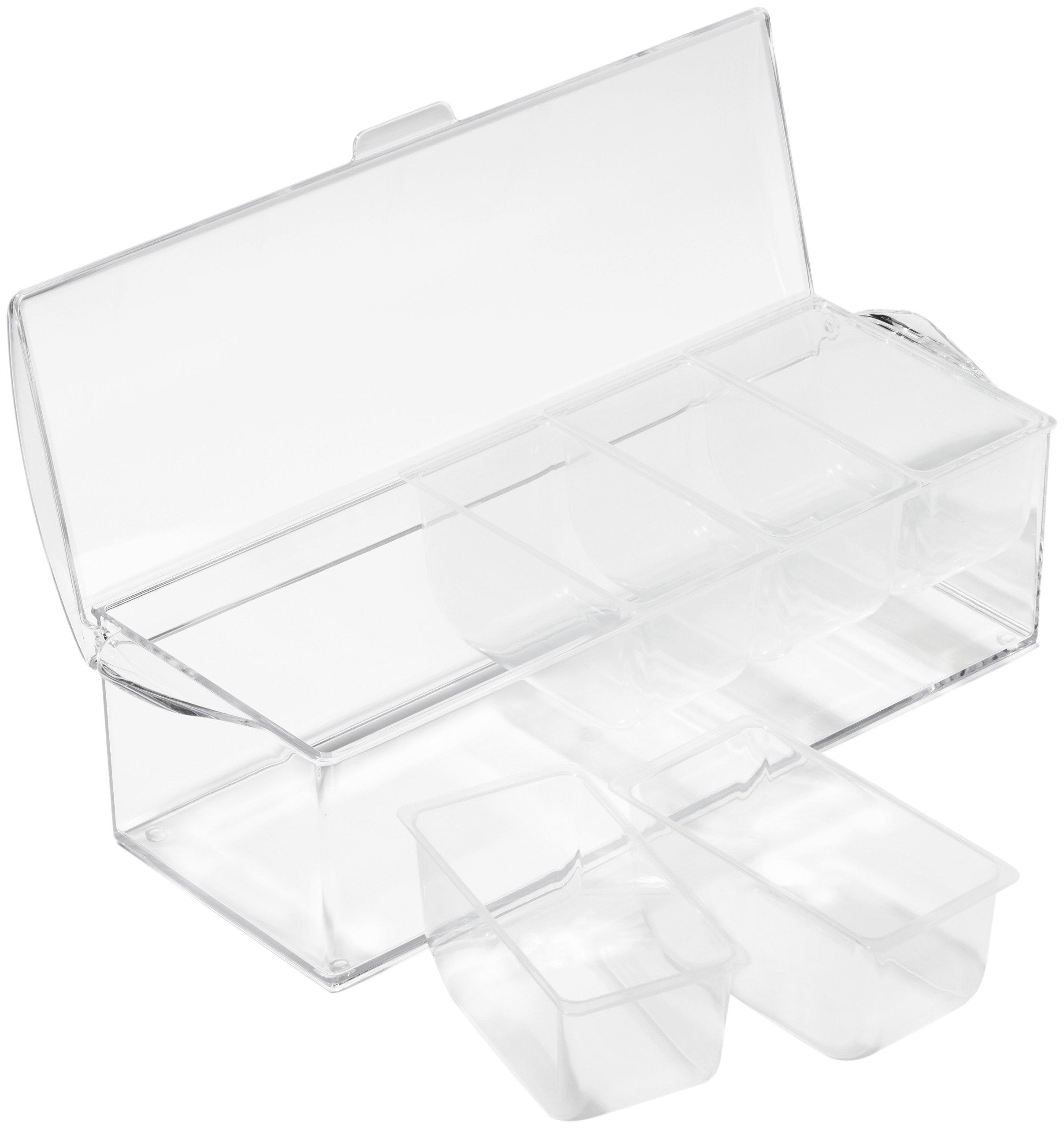 Prodyne AB-6 On-Ice Condiment, Clear