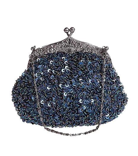Puluo - Cartera de mano para mujer azul oscuro