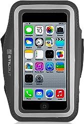 Brassard StilGut pour iPhone SE & 5/5s, Galaxy S4 mini, LG G2 mini (appareils 4 pouces), noir