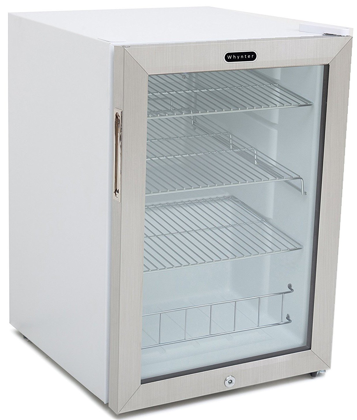 Amazon.com: Whynter BR-091WS Beverage Refrigerator with Lock, 90 Can ...
