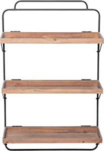 Foreside Home and Garden Folding 3 Tiered Shelf